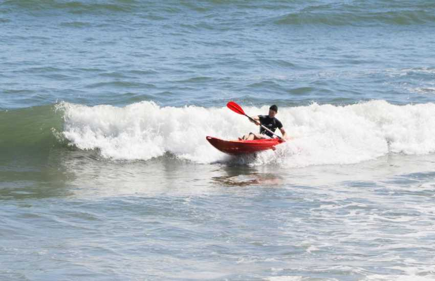 Try Sea kayaking in Pembrokeshire's crystal clear surf - its great fun!