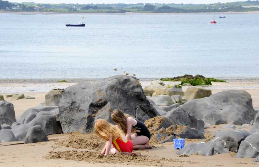 Pembrokeshire's golden sandy beaches are great for surfing, sand castles and rock pooling