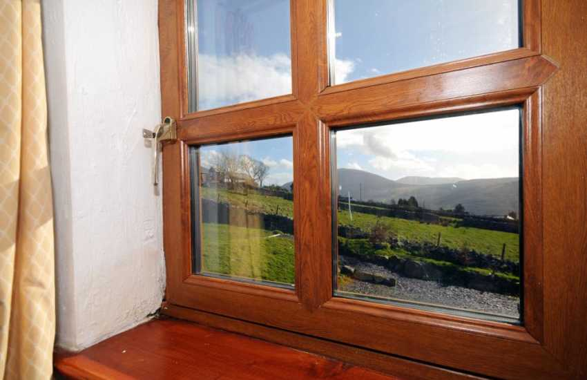 Welsh holiday cottage - countryside views from the bedroom