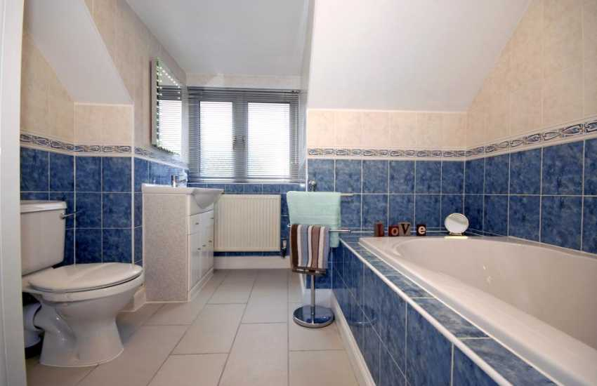 Pembrokeshire holiday house - family bathroom with walk in shower