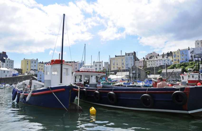 Tenby - a popular seaside resort with its picturesque harbour, quaint cobbled streets, boutiques, pubs, restaurants and 5 glorious beaches (Blue Flag) to choose from