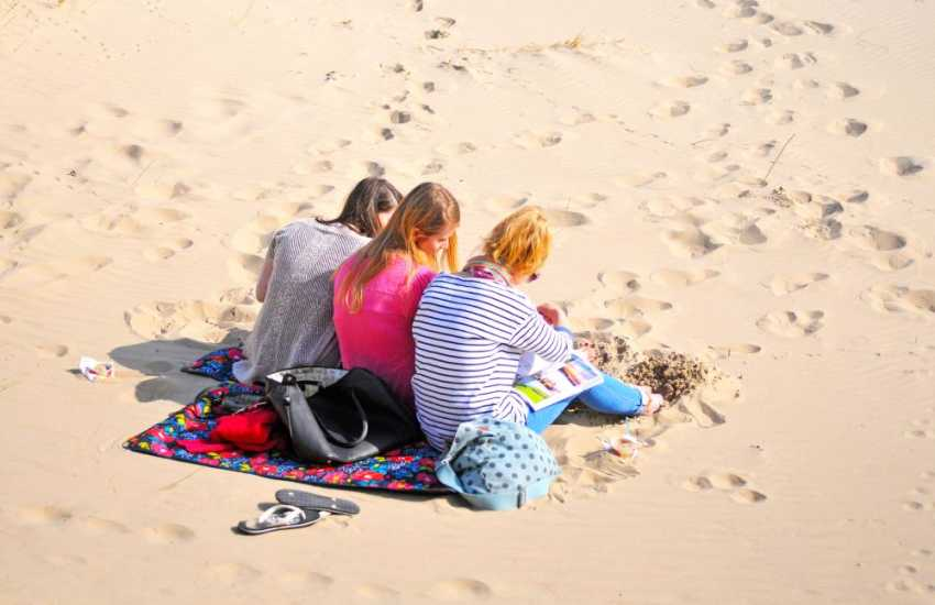 Harlech Beach is a great place to spend a day out for all the family