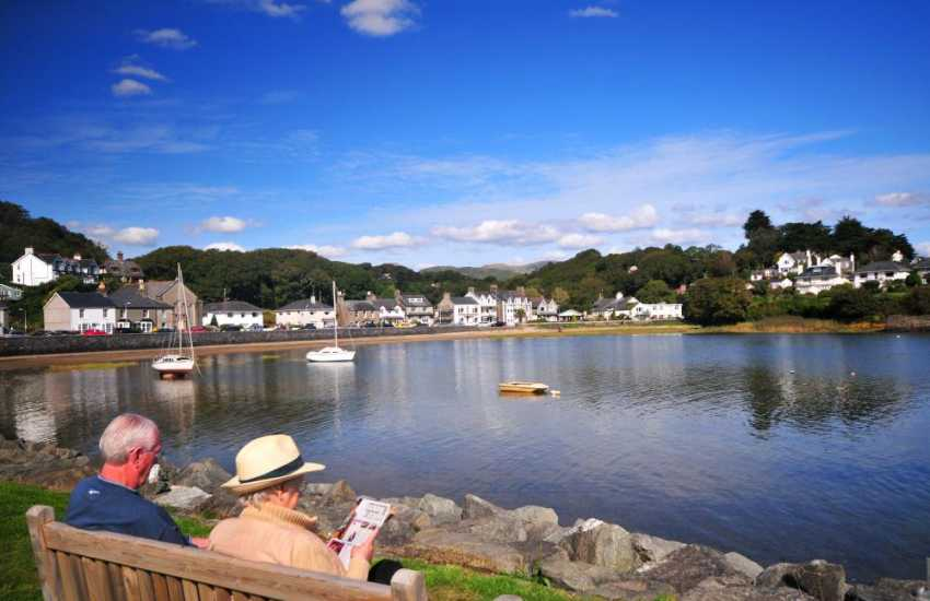 Borth y Gest harbour, sandy coves and coastal walks