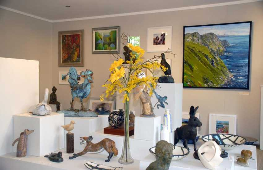 Visit workshop Wales Gallery, Fishguard for beautiful paintings and sculptures by both local and international artists
