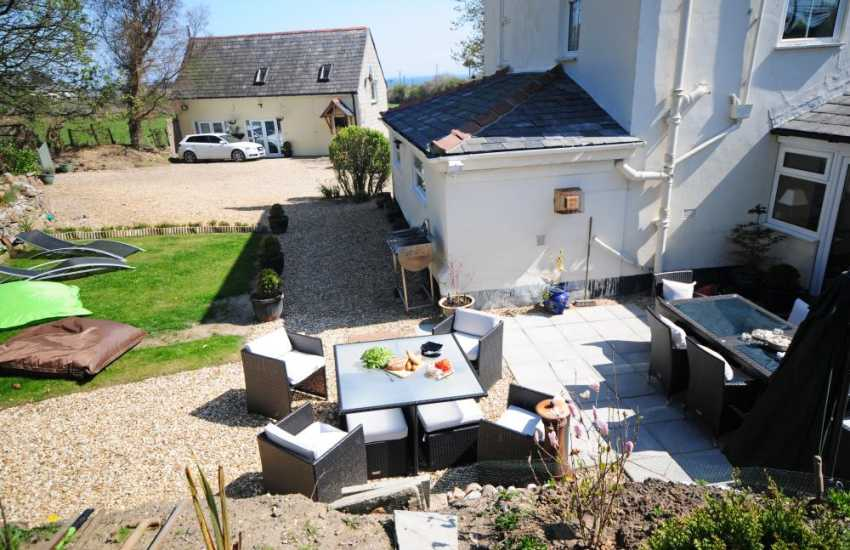 Luxury holiday house Abersoch - garden