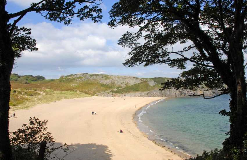Exotic Barafundle Beach (National Trust) - one of Pembrokeshire's most stunning beaches