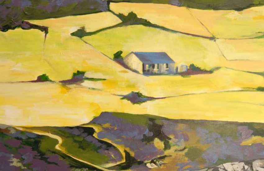 Pembrokeshire Coast Path - a beautiful local scene painted by the talented owner of Smithy Cottage
