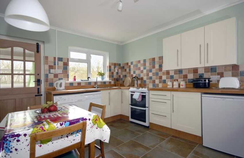 Self-catering holiday cottage in Pembrokeshire - modern kitchen