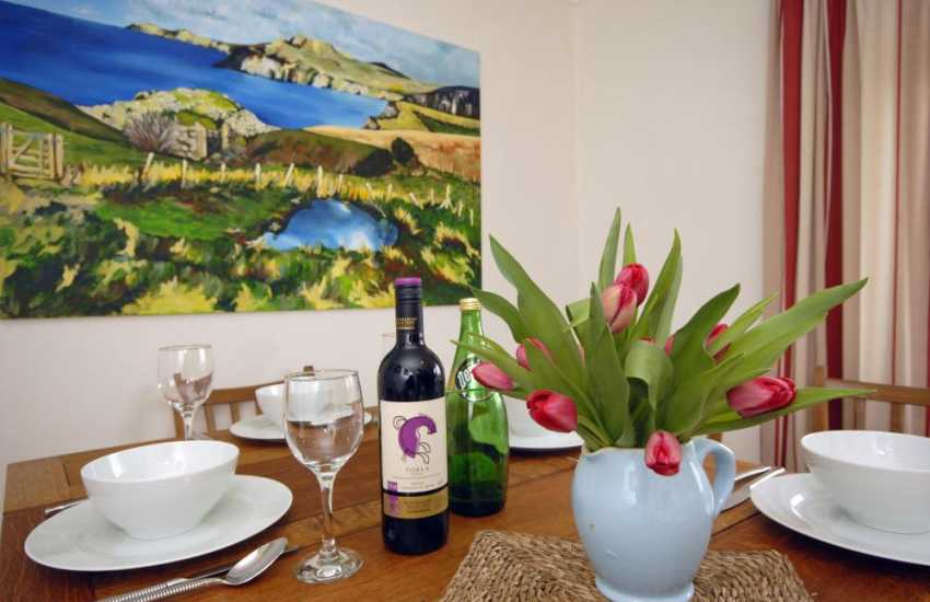 Solva holiday cottage with stunning art work by the owner