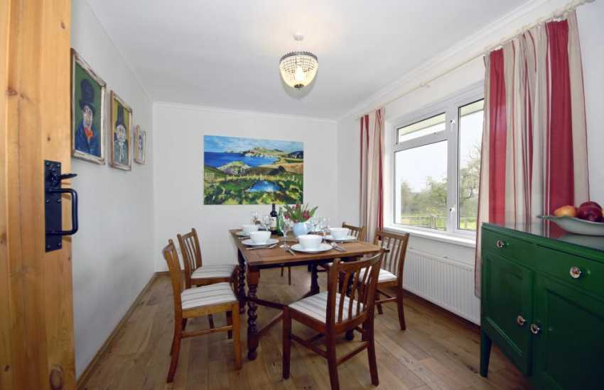 Self catering holiday cottage near Solva - dining room
