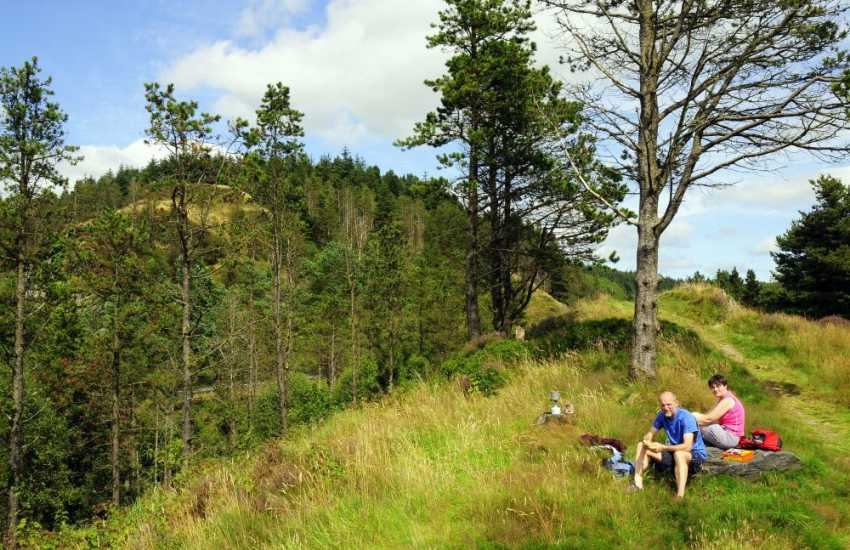 The Welsh countryside is ideal for walking and picnics