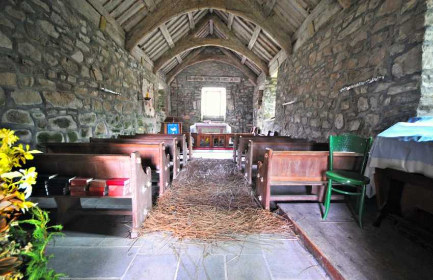 St Buenos chapel on the northern shore of the Lleyn Peninsula