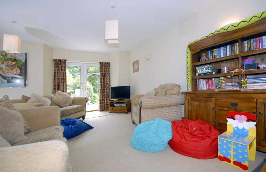 Children's sitting room on the garden level of this home for holidays in Solva
