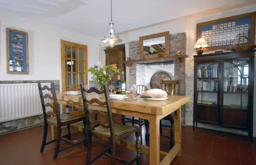 Traditional North Pembrokeshire farmhouse - dining area