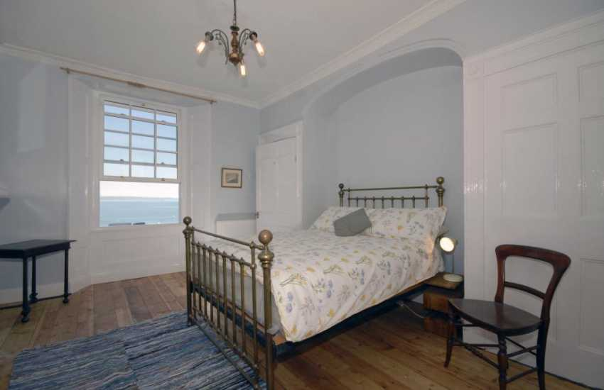 Tenby, Grade II listed town house - ground floor double with sea views