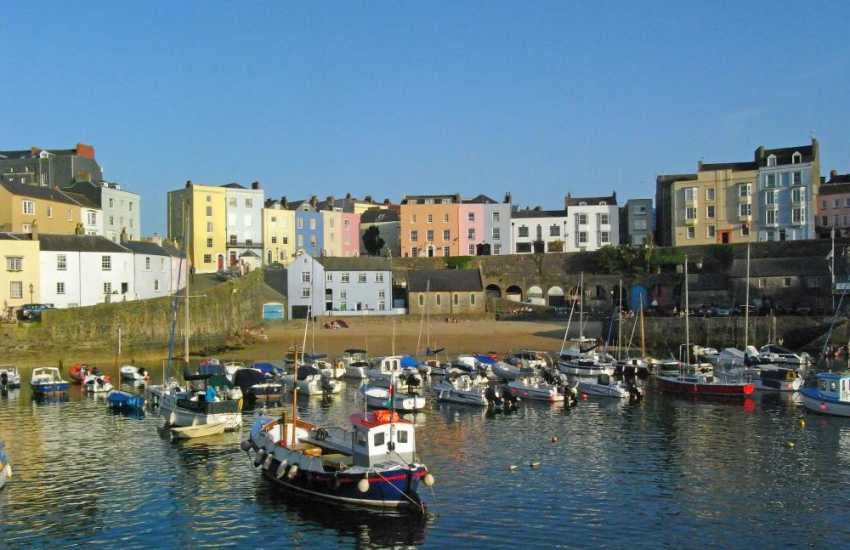 Tenby Harbour at evening time