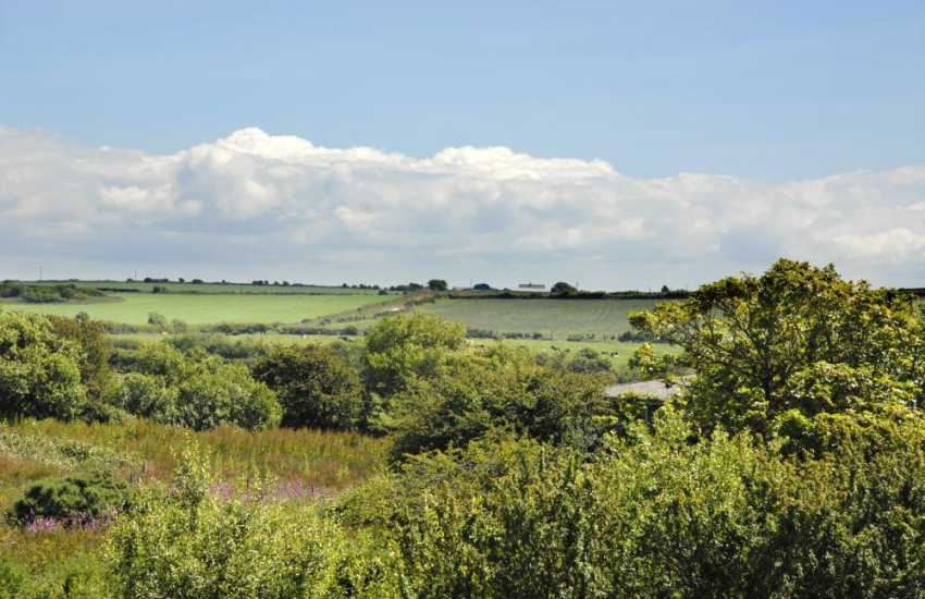 Enjoy lovely views across the surrounding Pembrokeshire countryside