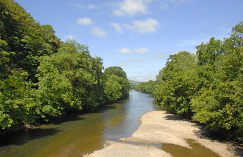 The River Twyi is a only a short stroll from the house