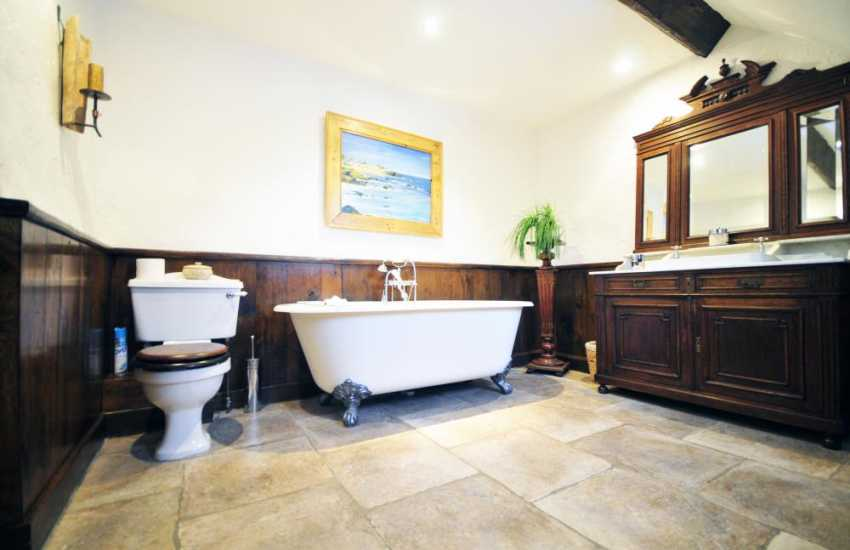 Bathroom in luxury Snowdonia holiday house