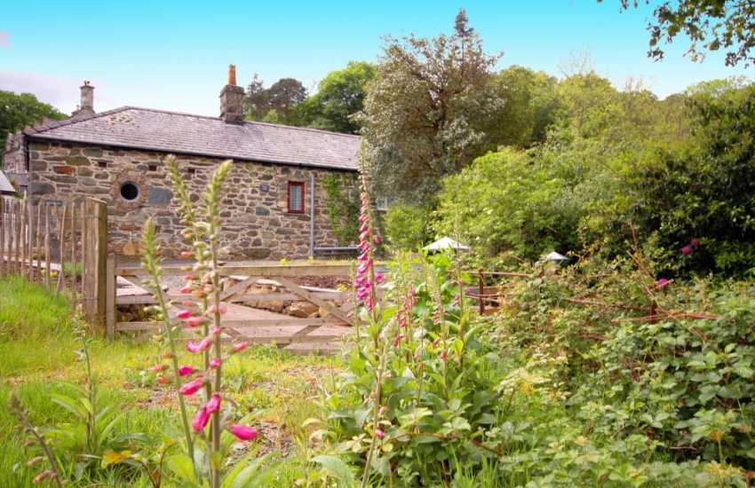 Holiday cottage garden near Dolgellau