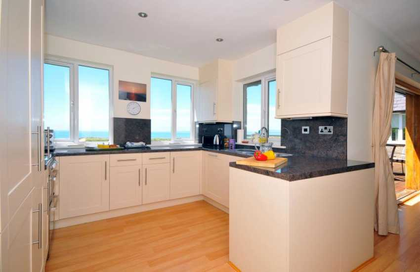 Beachside holiday house Wales - kitchen