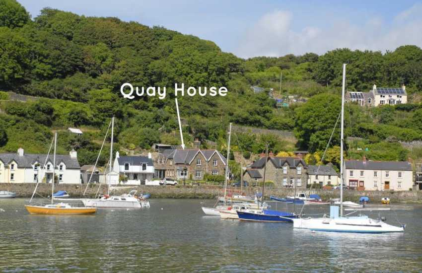 North Pembrokeshire waterside luxury holiday home with gardens - sorry no pets