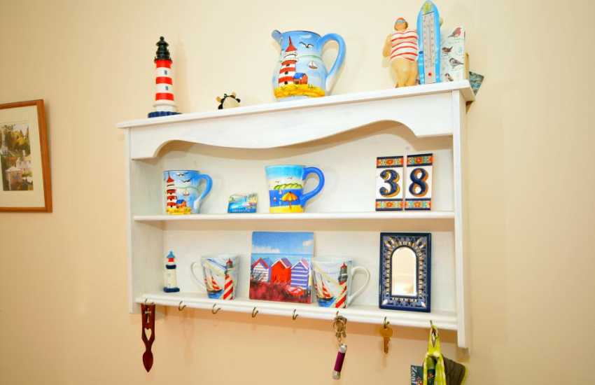 Holiday cottage Borth y gest - shelf
