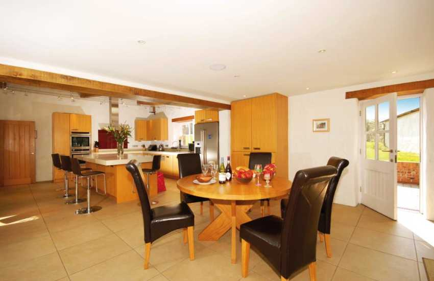 Large family kitchen with spacious dining area