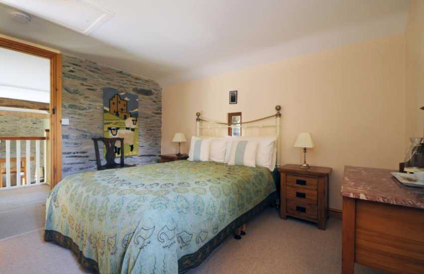 Countryside holiday Wales - double bedroom with en-suite on first floor