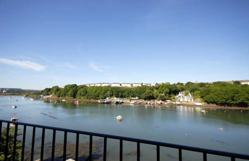 Wonderful panoramic views over Castle Pill from the master  and twin en-suite bedrooms