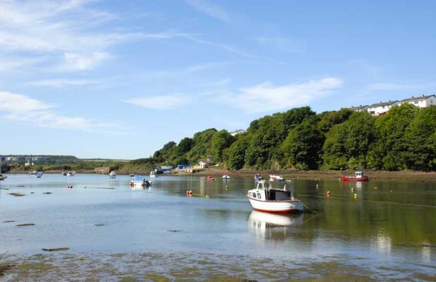 Panoramic views from your foreshore over Castle Pill to the Milford Haven Waterway beyond
