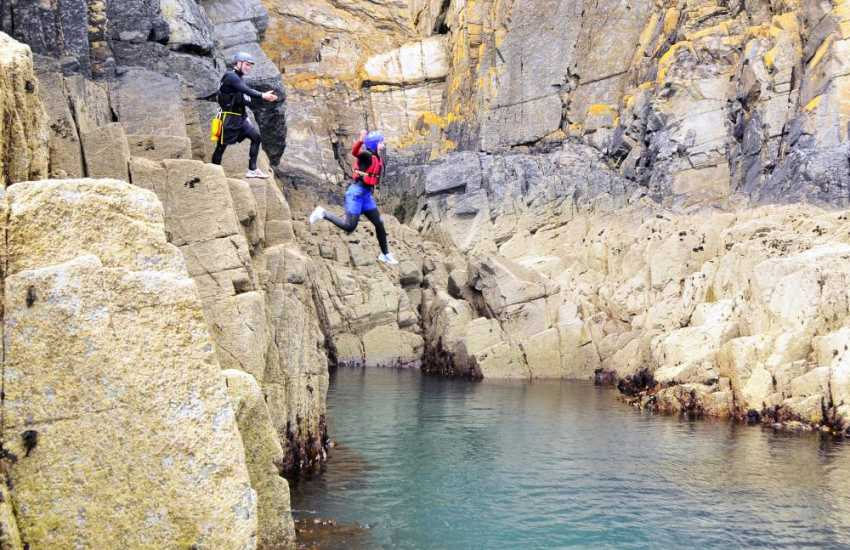 Sealyham Activity Centre near Wolfscastle, offers a range of activities both on land and water - coasteering is the most popular and suitable for everyone