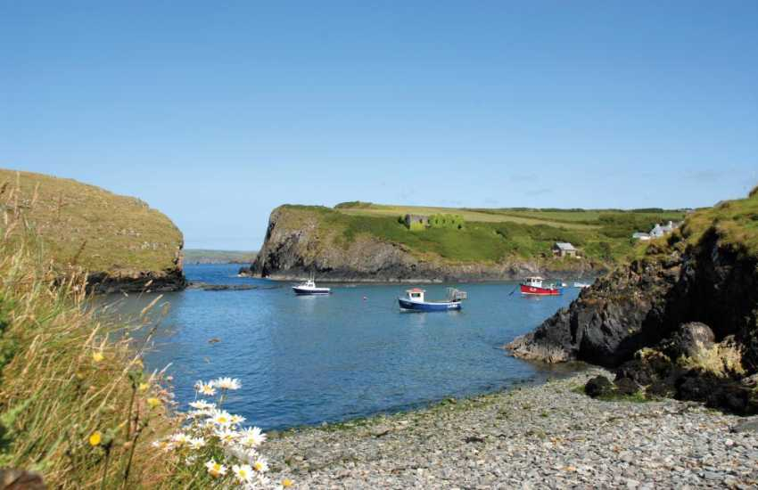 Abercastle - a pretty sheltered fishing village popular for swimming and sea kayaking