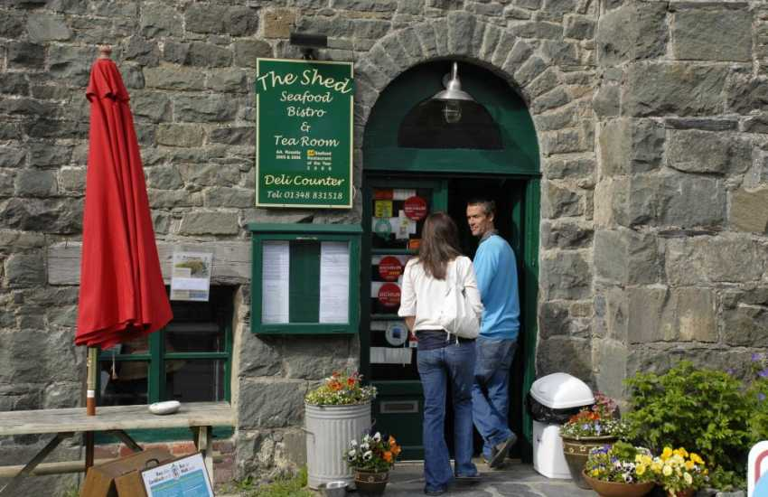 The Shed Bistro, Porthgain - enjoy the friendly service and delicious freshly caught fish served with hand cut chips