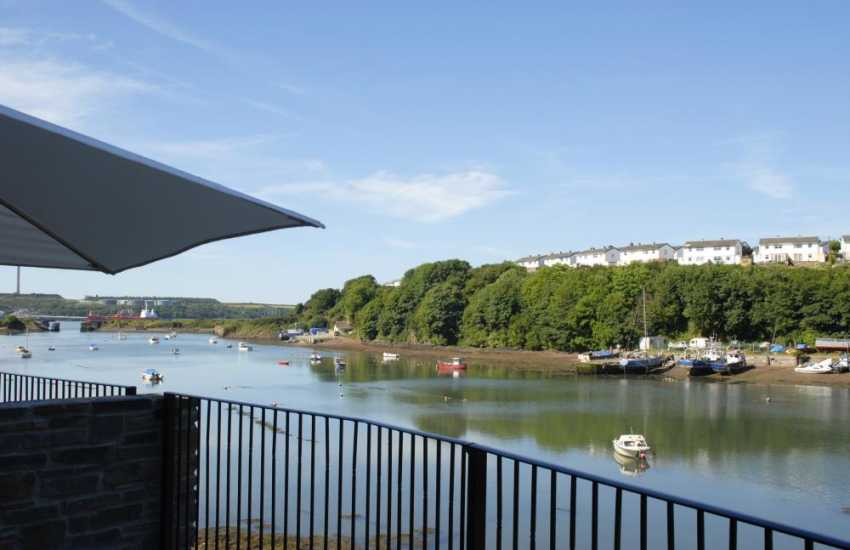 Stunning views over the ever-changing tidal waters from the terrace