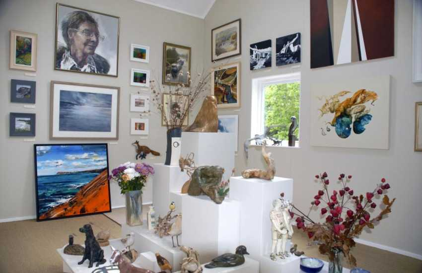 Visit 'Work Shop Wales' in the area for both local and international art works