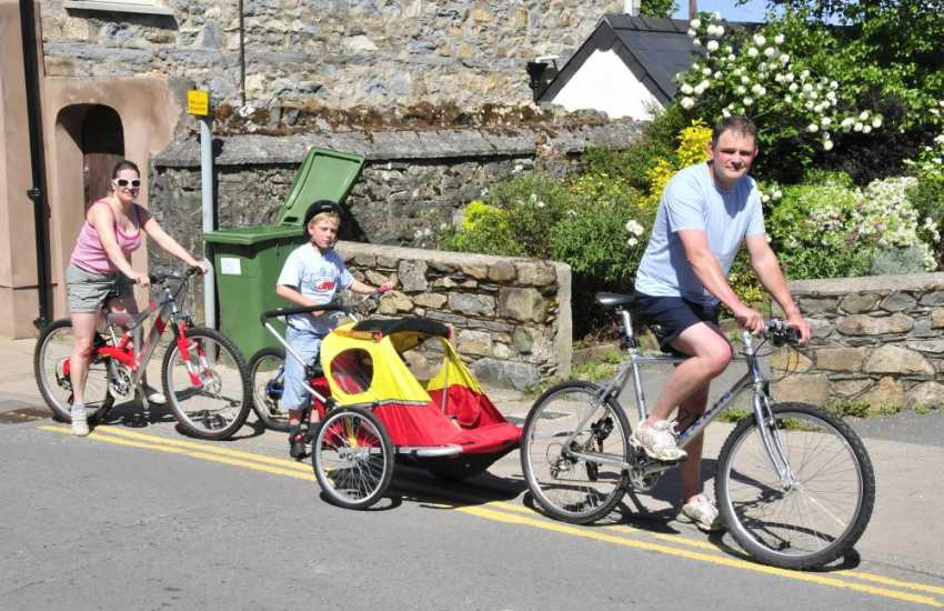 Newport Bike Hire - mountain and road bikes for all ages are available to hire including children's seats and tag alongs