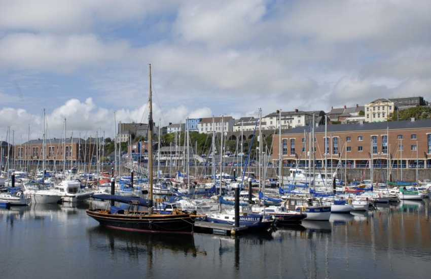 Milford Marina with its shops, cafes, bars, restaurants and fabulous luxurious yachts