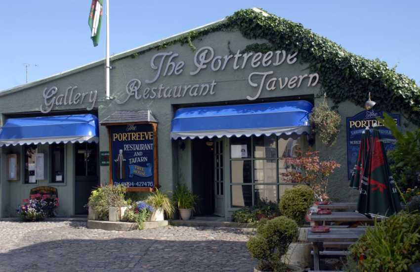 Do visit in Laugharne the Portreeve Restaurant, with locally sourced produce, freshly cooked