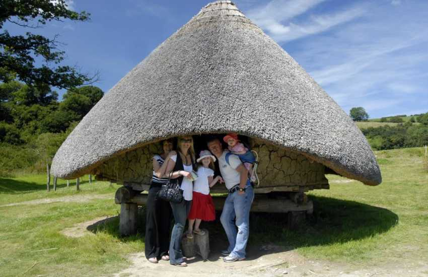 Step back in time at Castell Henllys, one of many prehistoric promontory forts in the National Park dating to around 600BC, but the only one where you can actually go inside a roundhouse, grind flour and make bread just like the Celts used to!