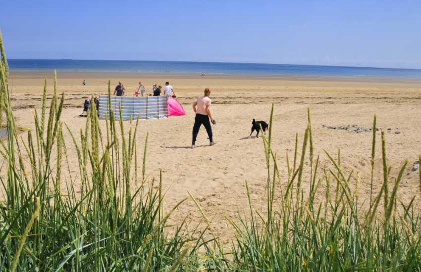 Family holiday fun on Benllech beach Anglesey