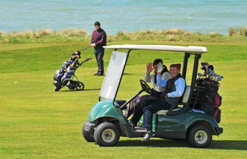 Morfa Nefyn Golf Course in the dramatic cliff top setting above Porthdinllaen bay