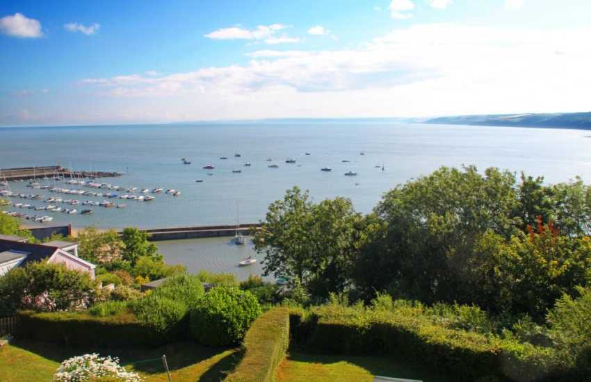 Holiday cottage with sea views over New Quay Bay