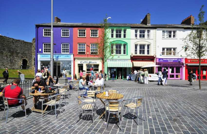 Caernarfon has something for everyone, shops, restaurants and cafes