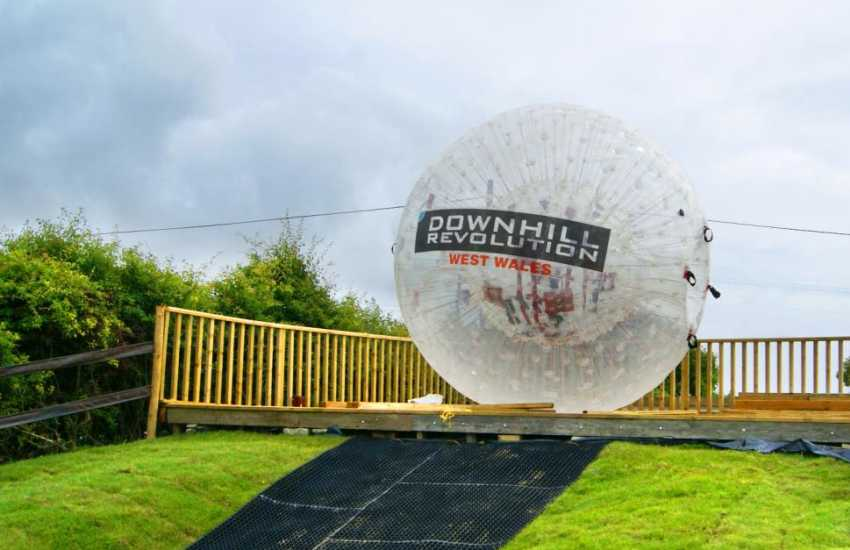 Try Zorbing at Nolton Stables - quite a thrilling experience for the more adventurous of you!