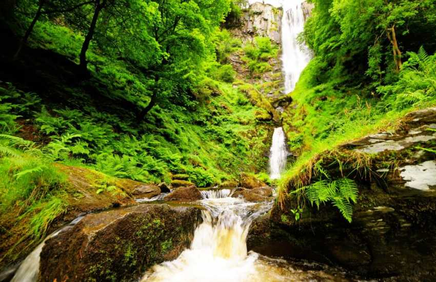 Pistyll Rhaeadr - the highest waterfall in Wales