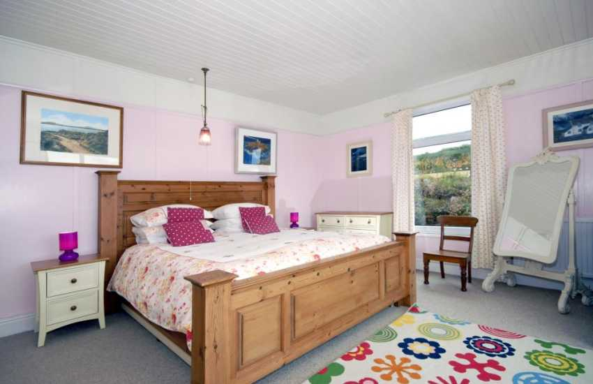 St Davids holiday home on the coast - master king size bedroom