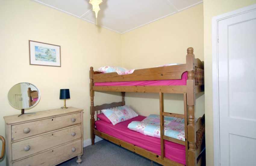 St Davids Peninsula holiday home - children's bunk room