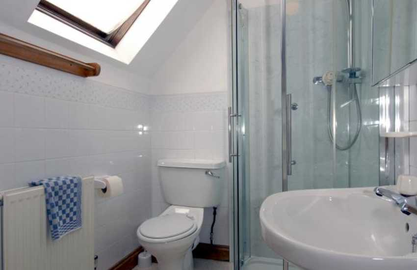 Newgale holiday cottage - master en-suite shower