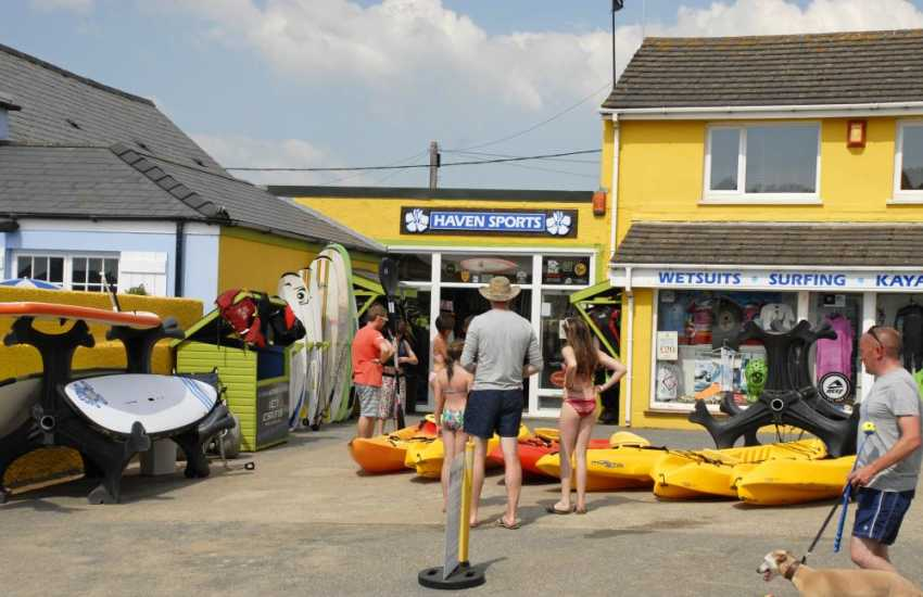 Haven Sports, Broad Haven offer all kinds of water sports equipment for hire - wetsuits, surfboards and kayaks